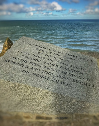 to the heroic ranger commandoes D2RN E2RN F2RN of the 116th INF who under the control of Colonel James E. Rudder of the First American Division attacked and took possession of the Pointe du Hoc ...