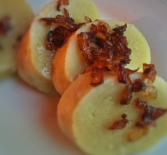 Potato dumpling w/ bacon